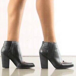 JOE's Avrly Black Leather Ankle Bootie.